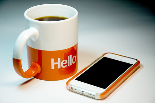 Cup and Phone